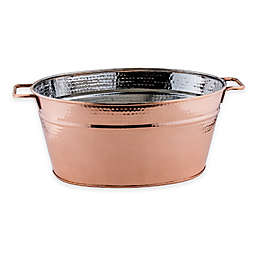Old Dutch International 5-Gallon Copper-Plated Hammered Beverage Tub