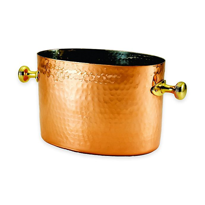 Alternate image 1 for Old Dutch International Copper-Plated Hammered Double Wine/Champagne Chiller