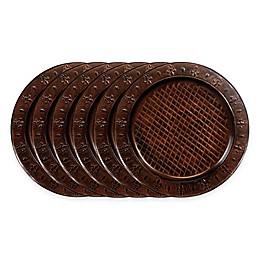 Old Dutch International Versailles Fleur-De-Lis Charger Plates in Brown (Set of 6)
