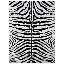 Fun Rugs™ Zebra Skin 3-Foot 3-Inch x 4-Foot 10-Inch Accent Rug in White/Black