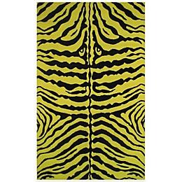 Fun Rugs™ Zebra Skin Rug in Yellow/Black