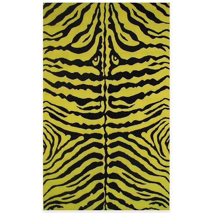 Alternate image 1 for Fun Rugs™  Zebra Skin 1-Foot 7-Inch x 2-Foot 5-Inch Accent Rug in Yellow/Black