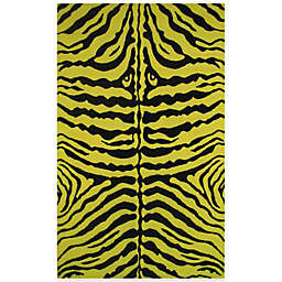 Fun Rugs™  Zebra Skin 4-Foot 3-Inch x 6-Foot 6-Inch Area Rug in Yellow/Black