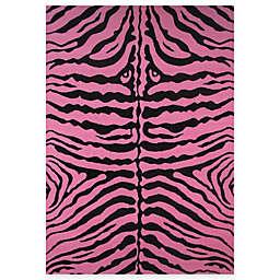 Fun Rugs™ Zebra-Print 4-Foot 3-Inch x 6-Foot 6-Inch Rug in Pink