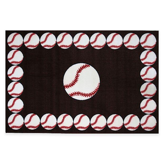 Buy Fun Rugs™ Baseball Time 1-Foot 7-Inch X 2-Foot 5-Inch