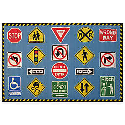 Fun Rugs Fun Time 3-Foot 3-Inch x 4-Foot 10-Inch Traffic Signs Area Rug