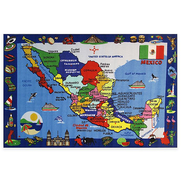 Fun Rugs™ Map Of Mexico Area Rug