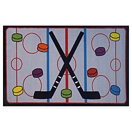 Fun Rugs™ On The Ice Hockey Rug