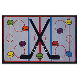 Fun Rugs™ On The Ice Hockey Rug