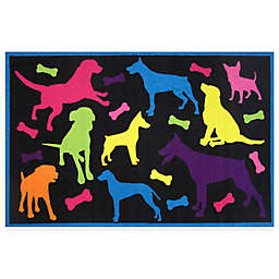 Fun Rugs™ Bow Wow 3-Foot 3-Inch x 4-Foot 10-Inch Area Rug