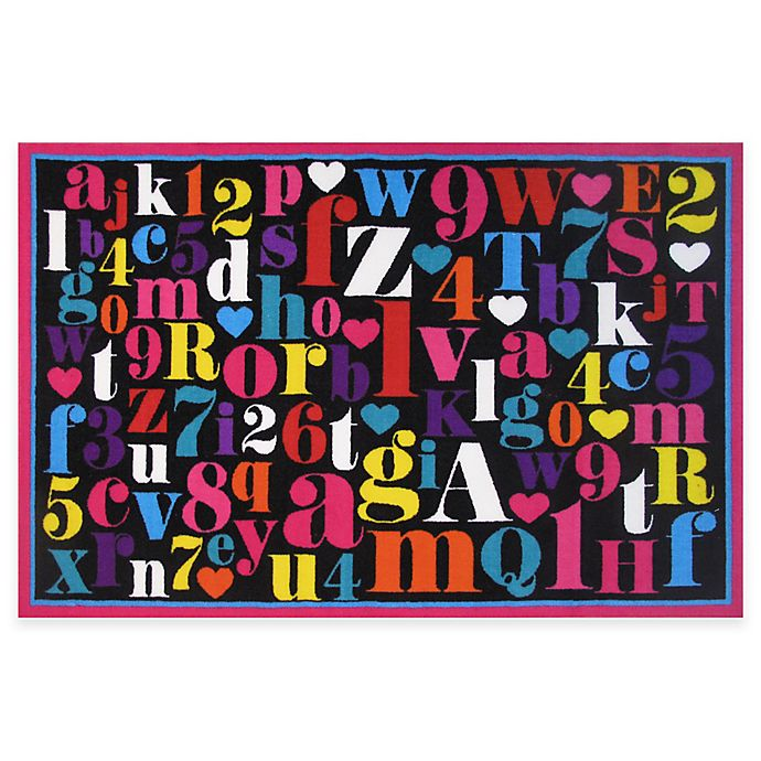 Alternate image 1 for Fun Rugs™ Alphabet 3-Foot 3-Inch x 4-Foot 10-Inch Accent Rug