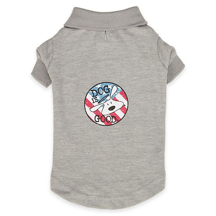Alternate image 1 for Dog is Good® Patriotic Polo Shirt in Grey