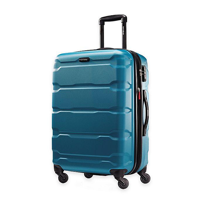 Alternate image 1 for Samsonite® Omni 24-Inch Hardside Spinner Checked Luggage in Caribbean Blue