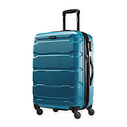 Samsonite® Omni 24-Inch Hardside Spinner Checked Luggage in Caribbean Blue