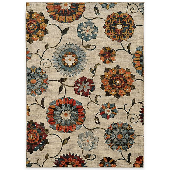 Oriental Weavers Sedona Floral Rug In Ivory Bed Bath