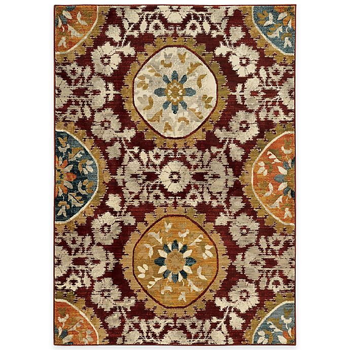 Alternate image 1 for Oriental Weavers Sedona Medallion 3-Foot 10-Inch x 5-Foot 5-Inch Area Rug in Red