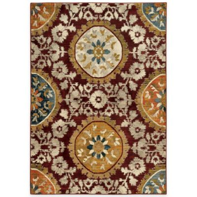 Oriental Weavers Sedona Medallion Rug In Red Bed Bath