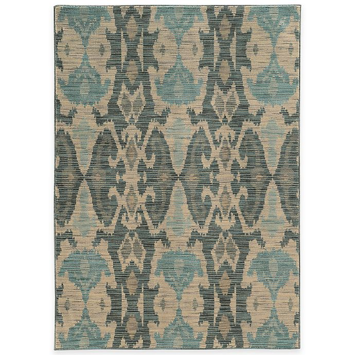 Alternate image 1 for Oriental Weavers Sedona Washed Ikat 9-Foot 10-Inch x 12-Foot 10-Inch Area Rug in Ivory