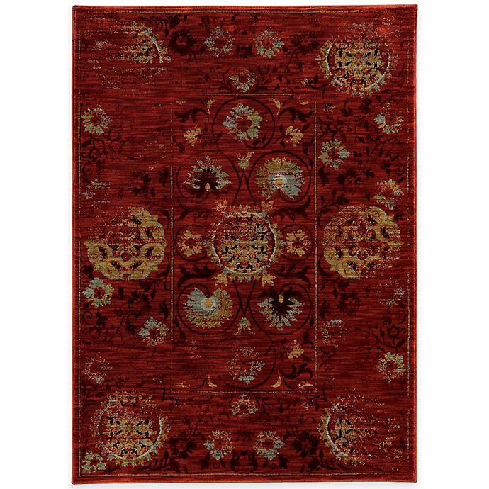Oriental Weavers Sedona Distressed Rug In Red Bed Bath