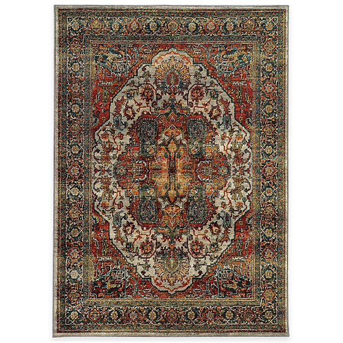 Oriental Weavers Sedona Traditional Rug In Red Bed Bath