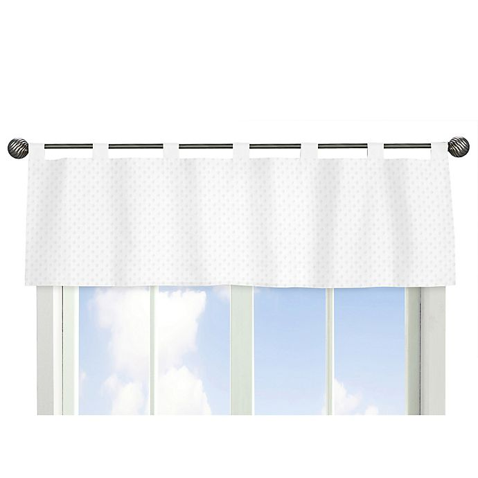 Alternate image 1 for Sweet Jojo Designs Minky Dot Window Valance in White
