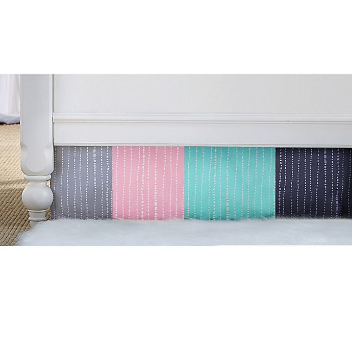 Alternate image 1 for Wendy Bellissimo™ Mix & Match Dotted Stripe Crib Skirt