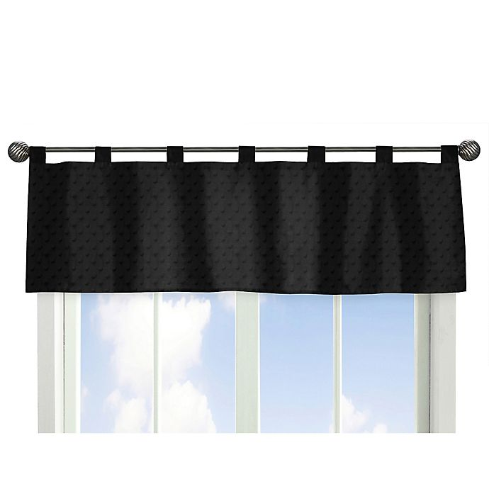 Alternate image 1 for Sweet Jojo Designs Minky Dot Window Valance in Black