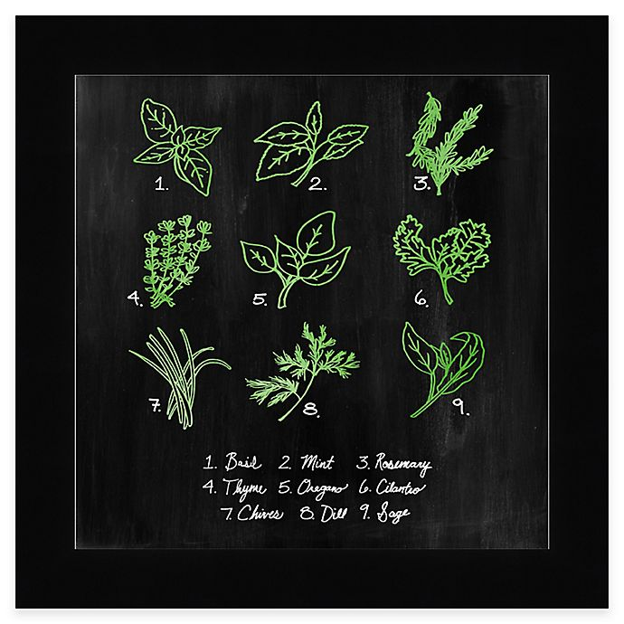Kitchen Wall Decor Bed Bath And Beyond: Chalkboard Herbs 1 Framed Wall Art
