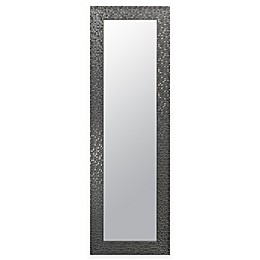 "Door Solutions™ Over-the-Door 17.5"" x 53.5"" Mosaic Tile Mirror in Silver"