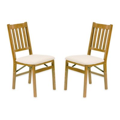 Stakmore Arts Amp Crafts Wood Folding Chairs Set Of 2