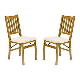 Stakmore Arts & Crafts Wood Folding Chairs (Set of 2)