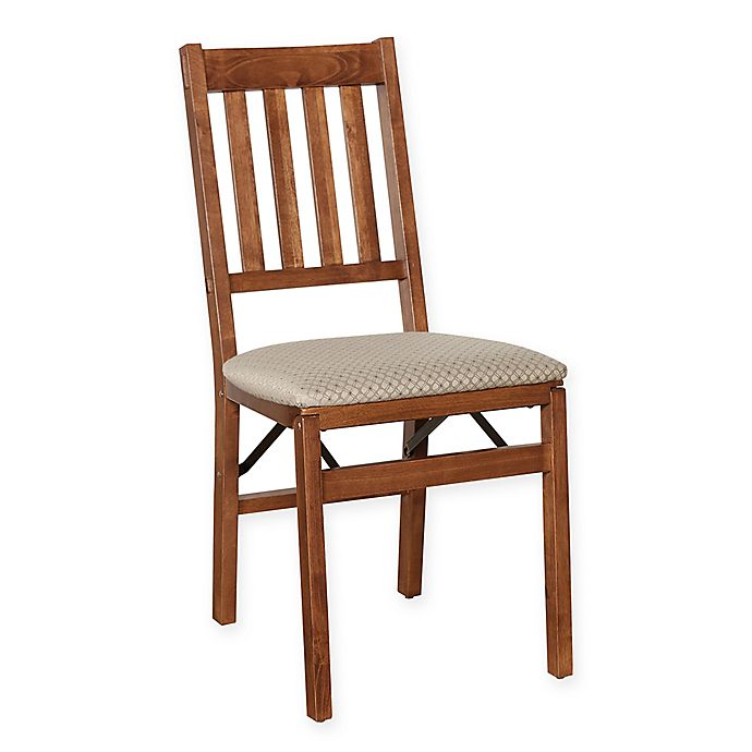 Alternate image 1 for Stakmore Arts & Crafts Wood Folding Chairs in Cherry (Set of 2)