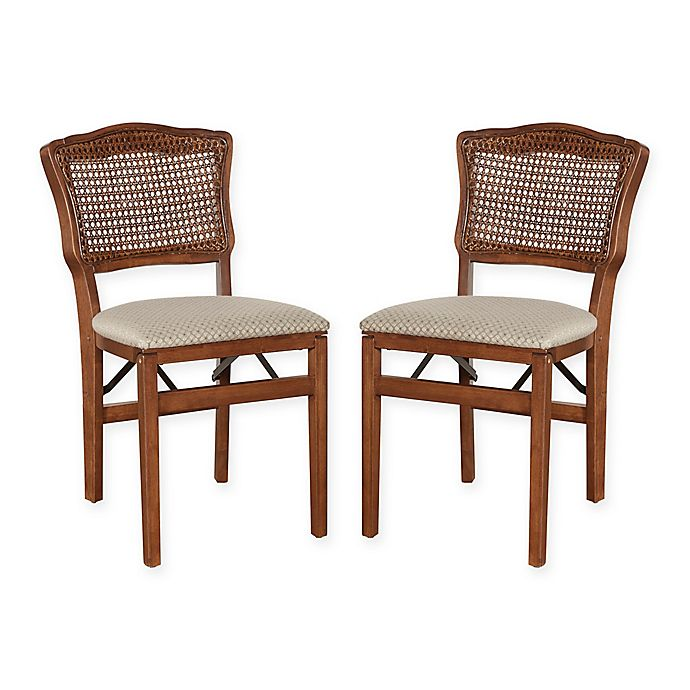 Stupendous Stakmore French Cane Back Wood Folding Chairs Set Of 2 Cjindustries Chair Design For Home Cjindustriesco