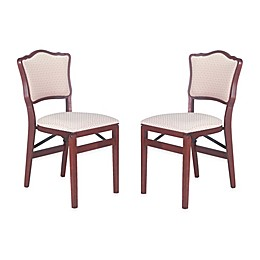 Stakmore French Padded Back Wood Folding Chairs (Set of 2)