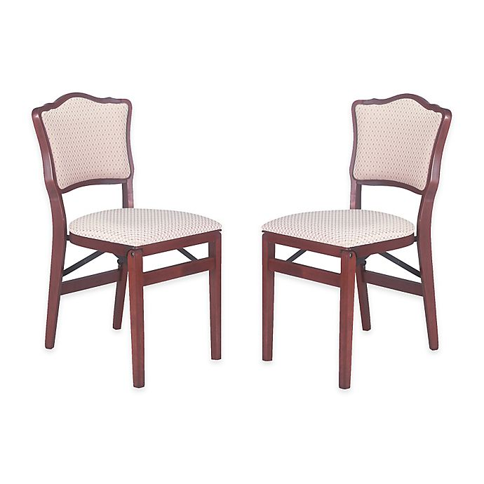 Pleasing Stakmore French Padded Back Wood Folding Chairs Set Of 2 Cjindustries Chair Design For Home Cjindustriesco