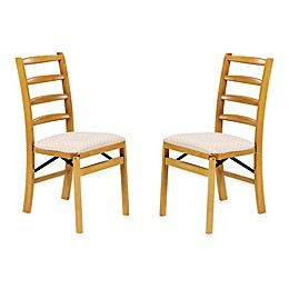 Stakmore Shaker Ladderback Wood Folding Chairs (Set of 2)