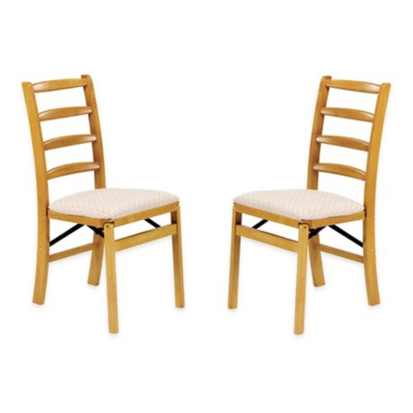 Stakmore Shaker Ladderback Wood Folding Chairs Set Of 2