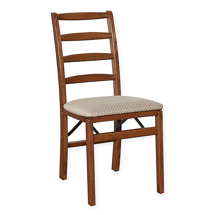 Alternate image 1 for Stakmore Shaker Ladderback Wood Folding Chairs in Cherry (Set of 2)
