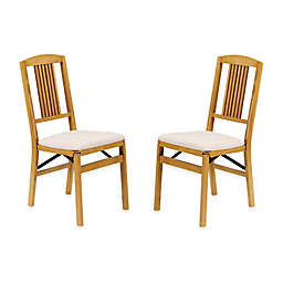 Stakmore Simple Mission Wood Folding Chairs (Set of 2)