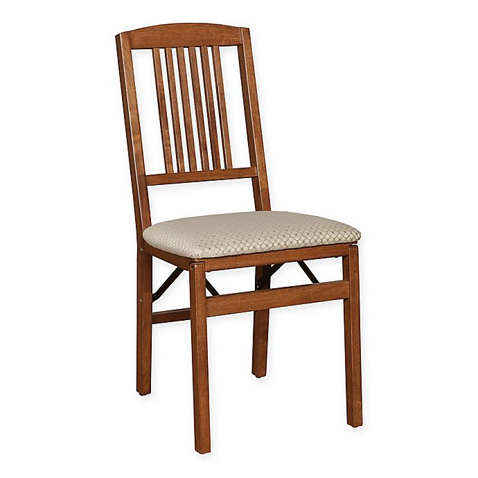 Alternate image 1 for Stakmore Simple Mission Wood Folding Chairs in Cherry (Set of 2)