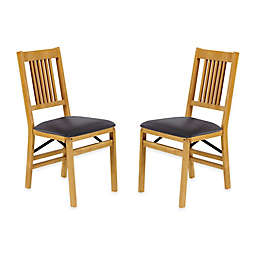 Stakmore True Mission Wood Folding Chairs (Set of 2)