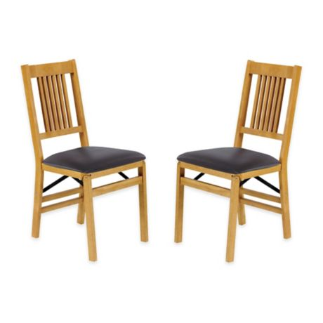 Stakmore True Mission Wood Folding Chairs Set Of 2 Bed
