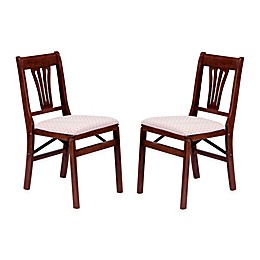 Stakmore Urn Back Wood Folding Chairs (Set of 2)