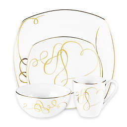 Mikasa® Love Story Gold Square Dinnerware Collection