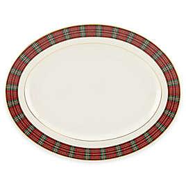 Lenox winter greetings dinnerware collection bed bath beyond lenox winter greetings plaid oval platter m4hsunfo