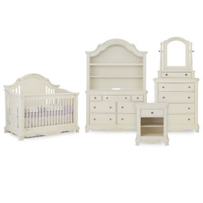 Bassettbaby® Premier Addison Nursery Furniture Collection In Pearl White by Bassett Baby Premier