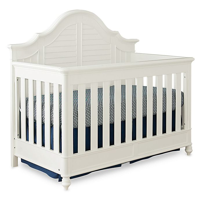 Alternate image 1 for Bassettbaby® Premier Nantucket 4-in-1 Convertible Crib in Cotton White