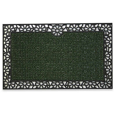Clean Machine® Premium Rubber Backed/Wrought Iron Daisy 18-Inch x 30-Inch Scraper Door Mat