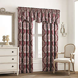 Valeron Glenview Window Curtain Valance with Pencil Pleat in Wine