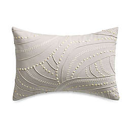 Barbara Barry® Sequins Textured Knot Square Throw Pillow in Silver